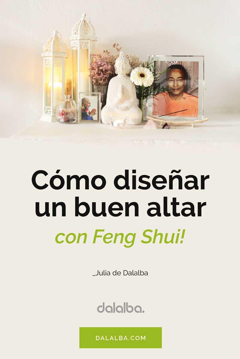 diseñar altar con feng shui